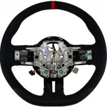 2015-2018 Ford Mustang GT350 D Style Steering Wheel with Red Trim