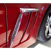 C6 Corvette Grand Sport Laser Mesh Stainless Side Vent Grills