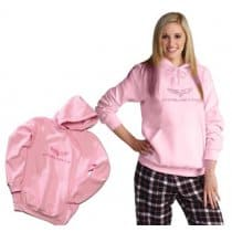 C6 Corvette Ladies Pink Hooded Sweatshirt