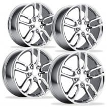 C7 Corvette Stingray Z51 Wheels Chrome Full Set