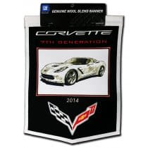 C7 Corvette Wool Embroidered Banner