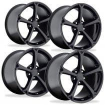 C6 Corvette Grand Sport Style Black Wheels Set
