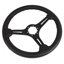 C3 1968-1982 Corvette Steering Wheel Black Leather On Black 3 Spoke
