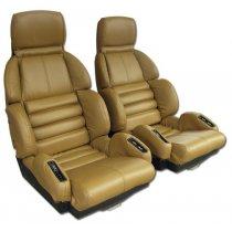 C4 1989-1990 Corvette Leather Sport Seat Covers Pair