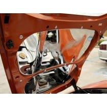 C6 Corvette 2-pc Hood Panels Etched Logo