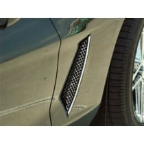 C6 Corvette Laser Mesh Side Vent Fender Grills