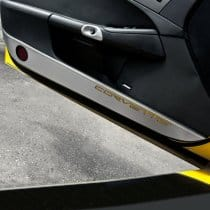 C6 Corvette  Brushed Door Guards w/C6 Logo