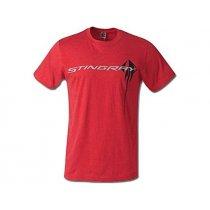 C7 Corvette Men's Stingray Chest Logo T-Shirt Red