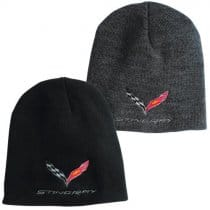 C7 Corvette Stingray Flag Knit Pullover Beanie