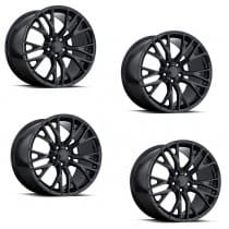 C7 C6 Corvette Z06 Black Reproduction Wheels Package