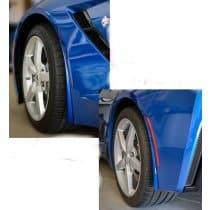 C7 Corvette Painted Body Color Splash Guards Kit