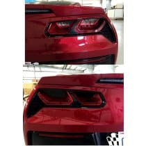 C7 Corvette Acrylic Taillight Blackout Kit