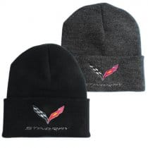 C7 Corvette Stingray Flag Knit Beanie w/ Cuff