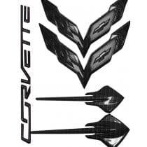 2014-2019 C7 Corvette Hydro Carbon Fiber Emblems Package