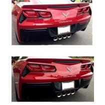 C7 Corvette Taillight Bezels Bar Insert - Painted