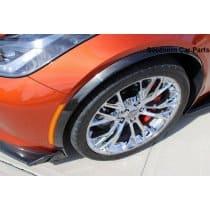C7 Z06 Carbon Fiber Front Wheel Trim Moldings - Pair