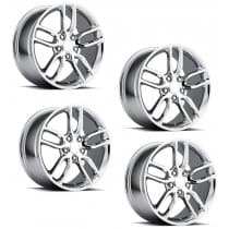 C7 Corvette Z51 Style Chrome Wheels (Set)