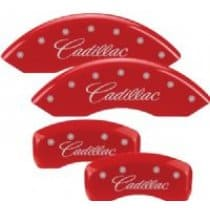 2003-2007 Cadillac CTS Red Caliper Covers GM Licensed Engraving
