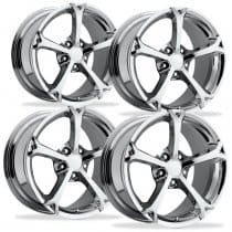C6 Corvette  Grand Sport Style Wheels - Chrome Set