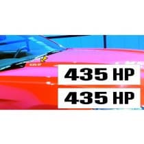 2015-2017 Mustang Hood Rise Designation Decal Set 435 HP
