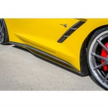 C7 Corvette Trufiber Carbon Fiber Side Skirts