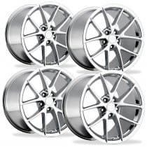 Corvette C6 Z06 Spyder Wheel - Chrome Full Set