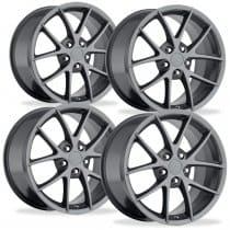 C6 Z06 Corvette Competition Grey Spyder Wheels Package