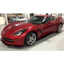 "2014-2019 C7 Corvette Side Skirts Z06 Style ""Signature Series"" Striped"