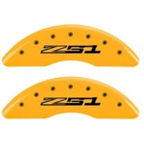 C7 Corvette Yellow Powder Coated Caliper Covers with Z51 Logo