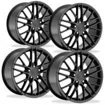 C6 Corvette ZR1 Black Wheels Set