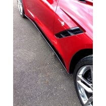 C7 Corvette Painted Side Skirts Package Stage 1