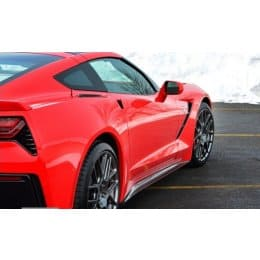 Grand Sport and Z06 ACS Composite C7 Corvette Rear Fascia Extensions Made via Plastic Injection ABS PC
