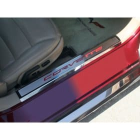 C6 Corvette Inner Doorsills w/Carbon Fiber Lettering