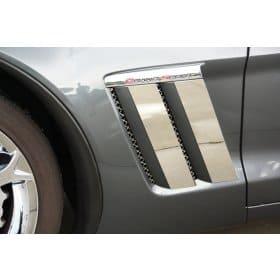 C6 Corvette Grand Sport Fender Trim Plates 4pc