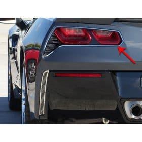 C7 2014-2019 Corvette 2pc Brushed Taillight Trim Rings