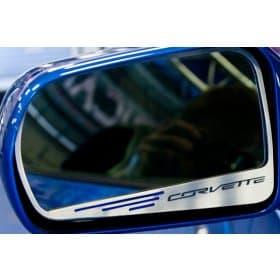 2014-2019 C7 Corvette Side Mirror Trim w/CORVETTE Lettering