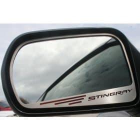2014-2019 C7 Corvette Side Mirror Trim w/STINGRAY Lettering