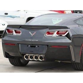 2014-2019 C7 Corvette Stainless Steel Taillight Overlays w/Flags Logo