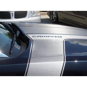 2010-2013 Camaro Brushed Stainless Look Vinyl Graphic