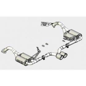 Borla Porsche Cayman S Aggressive Exhaust 12659