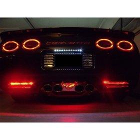 C5 Corvette Exhaust Plate LED Lighting - SouthernCarParts com