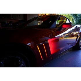 2005-2013 C6 Corvette Grand Sport Color Changing LED Fender Cove Lighting Kit