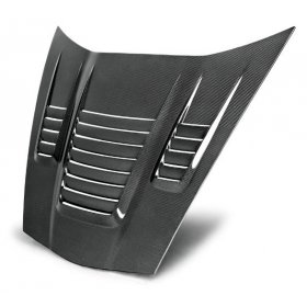 """C6 Corvette """"LE MANS STYLE""""  Style Carbon Fiber Hood"""