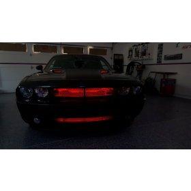 2008-2014 Challenger RGB LED Hood Scoop Lighting Kit