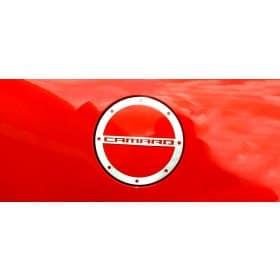 2010-2018 Camaro Brushed Fuel Door Cover CAMARO