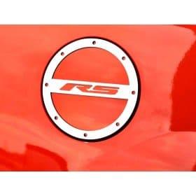 2010-2018 Camaro Brushed Fuel Door Cover RS