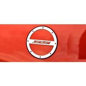 2010-2018 Camaro Brushed Fuel Door Cover SS