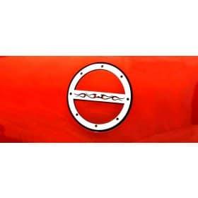 2010-2018 Camaro Brushed Fuel Door Cover Tribal Flame