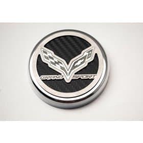 2017-2019 C7 Corvette GS Engine Caps Grand Sport Script Carbon Fiber