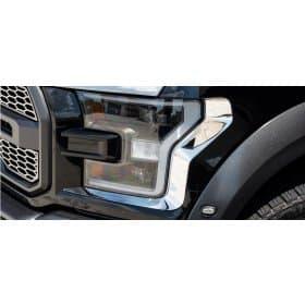 2017 Ford Raptor Headlight Trim Stainless Steel 2pc